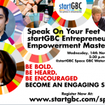 Speak on Your Feet - startGBC Entrepreneur Empowerment Masterclass