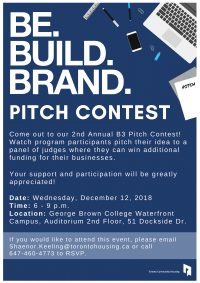 Be.Build.Brand. Pitch ContestBe. Build. Brand.is a 12-week entrepreneurial program targeted at youth interested in launching and developing their own business. The program equips youth with the hard and soft skills needed to tangibly start and sustain their business.