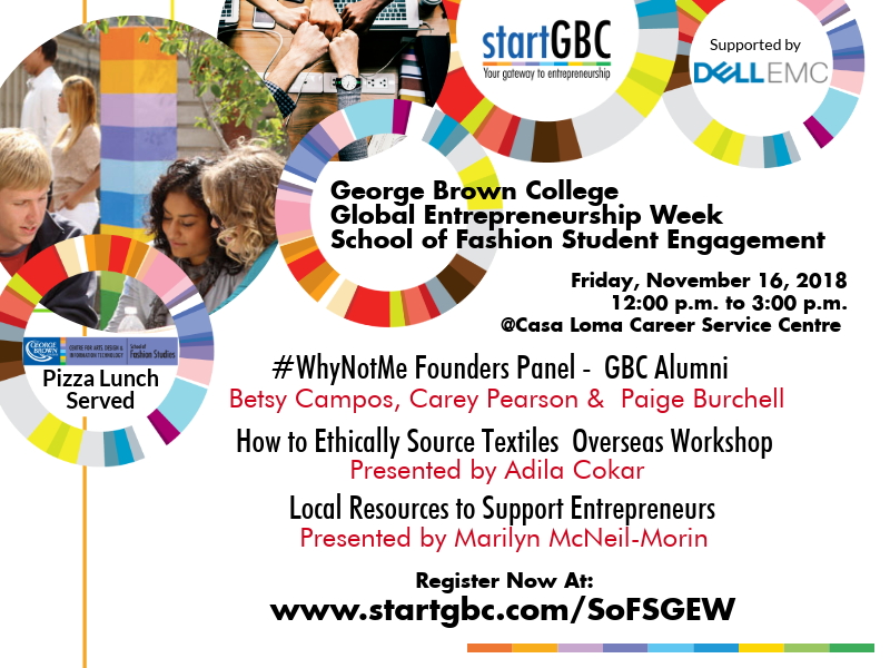 George Brown College School of Fashion Studies Global Entrepreneurship Week Student Engagement