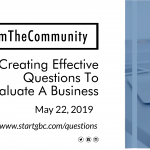 #FromTheCommunity: Creating Effective Questions To Evaluate A Business poster