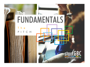 startGBC Fundamentals The Pitch Workshop