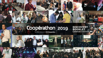 "A collage of images with the text ""Cooperation 2019"" written in the middle"