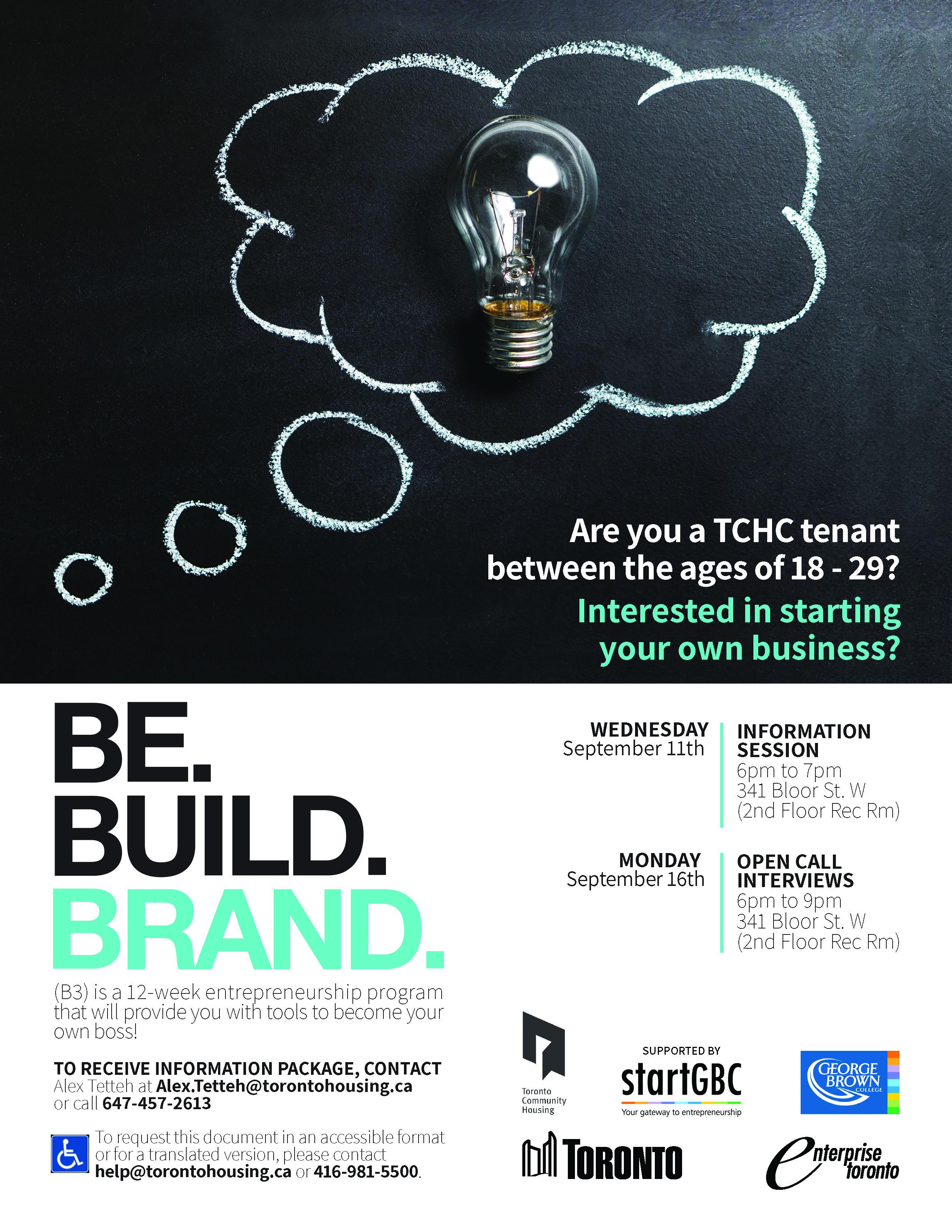 Toronto Community Housing Be. Build. Brand Logo