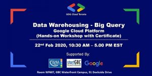 Data Warehousing Workshop Poster by GDG cloud toronto