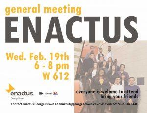 Enactus General Meeting Poster