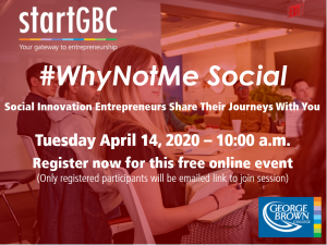 startGBC #WhyNotMe Social April 14, 2020