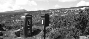 Black and White Telephone box