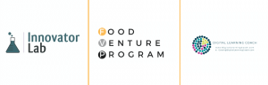 Innovator Lab, Food Venture Program and Digital Learning Coach Logos