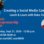 startGBC WEW Creating a Social Media Campaign