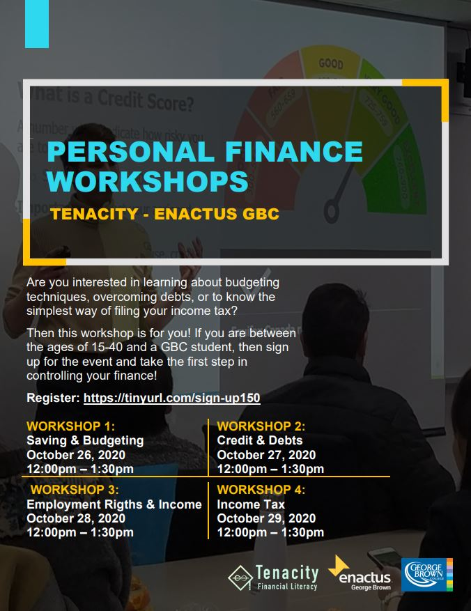 Enactus George Brown Personal Finance Workshops