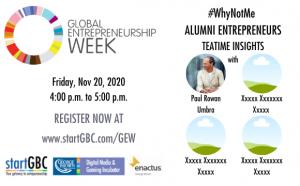 GEW startGBC #WhyNotMe Alumni Entrepreneur Panel Discussion