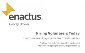 Enactus Hiring Volunteers