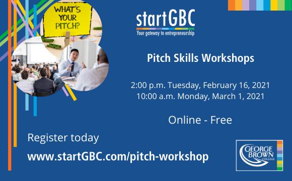 Free Pitch Skills Workshops