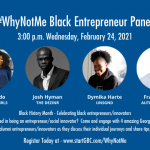 startGBC/BSSN #WhyNotMe Black Entrepreneur Panel Discussion event logo