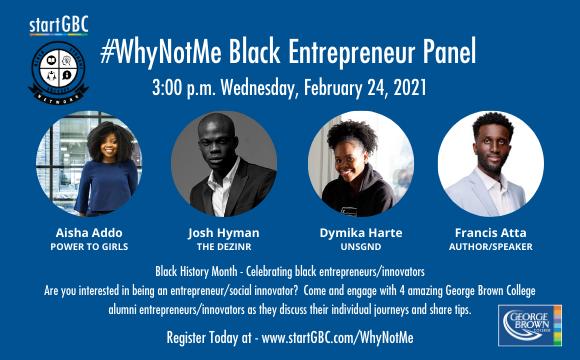 startGBC/BSSN #WhyNotMe Black Entrepreneur Panel Discussion event logo