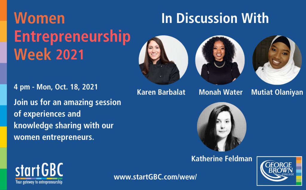 Women Entrepreneurship Week 2021_In discussion with GBC Entrepreneurs