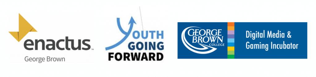 Enactus George Brown - Youth Going Forward - Digital Media & Gaming Incubator Logos